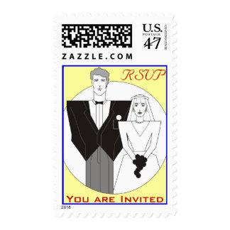 Wedding Invitation Stanp Postage Stamp