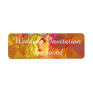 Wedding Invitation Stickers(Bleeding Hearts) Label