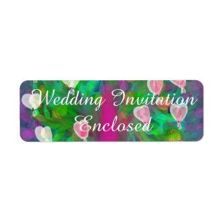 Wedding Invitation Stickers(Pink Hearts) Label