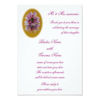 Wedding Invitation - Striped Daisy Gerbera pink