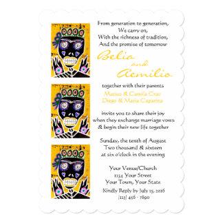 Wedding Invitation Sun Queen Sugar Skull Angel