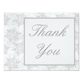 Wedding Invitation Thank you card Winter snowflake