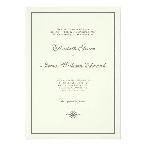 Wedding Invitation // The Elegant Collection