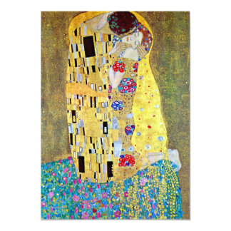 Wedding Invitation; The Kiss by Gustav Klimt Personalized Announcement
