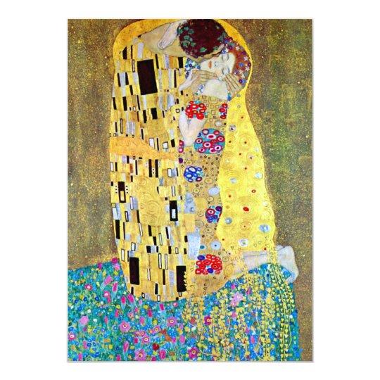 Wedding Invitation; The Kiss by Gustav Klimt Card