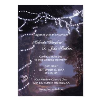 Wedding Invitation   Tree Lights