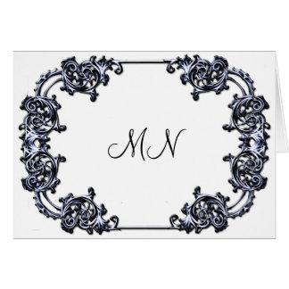 Wedding invitation VINTAGE FLORAL BLACK AND WHITE Cards