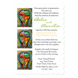Wedding Invitation Virgin of Guadalupe BLESSINGS