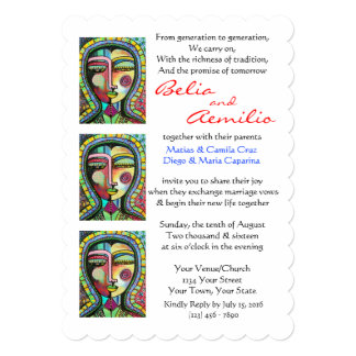 Wedding Invitation Virgin Of Guadalupe PROTECTION