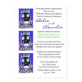 Wedding Invitation Voodoo King Sugar Skull Angel