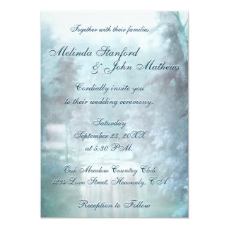 Wedding Invitation   Waterfall Blue