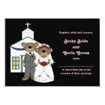 "Wedding Invitation Wedding Bears Collection 5"" X 7"" Invitation Card"