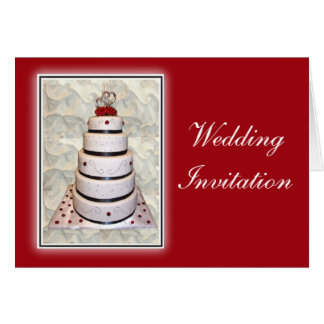 Wedding Invitation - Wedding Cake