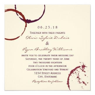 Wedding Invitation | Wine Stain Rings