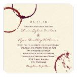 "Wedding Invitation | Wine Stain Rings 5.25"" Square Invitation Card"