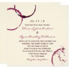 Wedding Invitation   Wine Stain Rings
