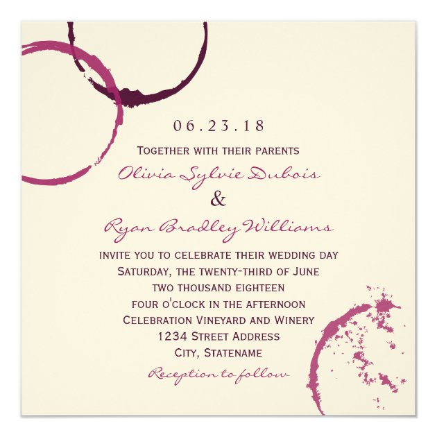 wedding invitation wine stain rings rb259bf56048241a4a8ca226f2164215a zk91m 630 - Wedding Wedding