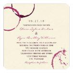 Wedding Invitation | Wine Stain Rings Custom Invites