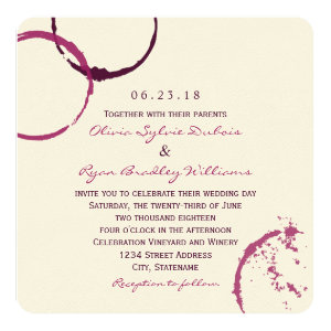 Wedding Invitation | Wine Stain Rings 5.25