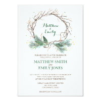 Wedding Invitation Winter Wreath