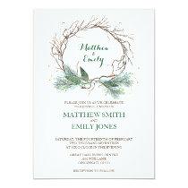 Wedding Invitation Winter Wreath