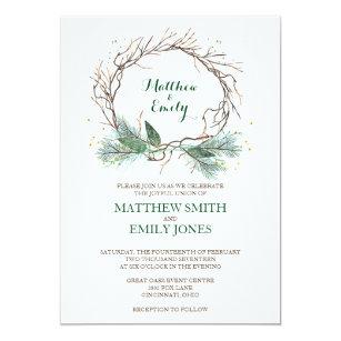 Winter wedding invitations wonderful for winter weddings zazzle wedding invitation winter wreath filmwisefo