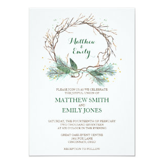 Wedding invitations wedding invitation cards zazzle winter invite wedding invitation winter wreath stopboris