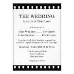 Wedding Invitation With A Movie Film Theme