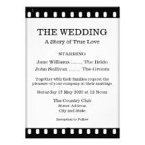 Wedding Invitation With A Movie Film Theme at Zazzle