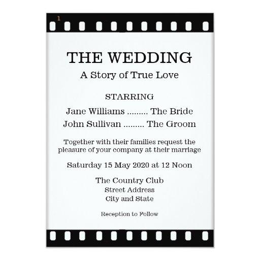 299+ Movie Wedding Invitations, Movie Wedding