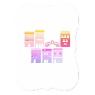 Wedding Invitation with Homes