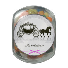 Wedding Invitation With Horse And Buggy Jelly Belly Candy Jars at Zazzle