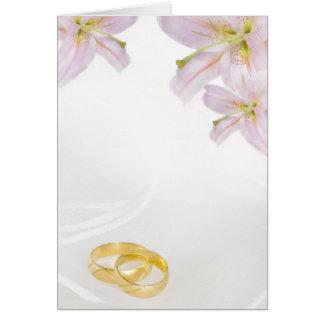 wedding invitation with lilies