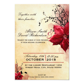 Wedding invitation with Network flowers