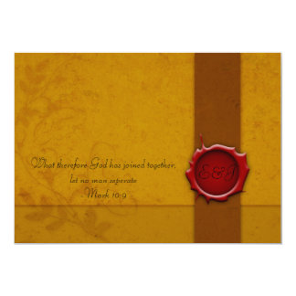 Wedding Invitation with Seal