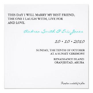 """Wedding Invitations 5.25"""" Square Invitation Card"""