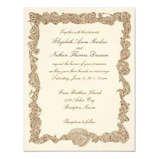 "Wedding Invitations 4.25"" X 5.5"" Invitation Card"