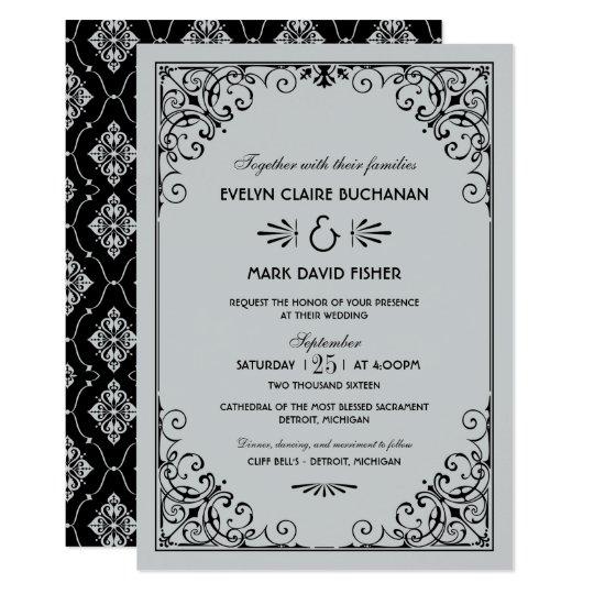 Art Deco Wedding Invitation: Wedding Invitations