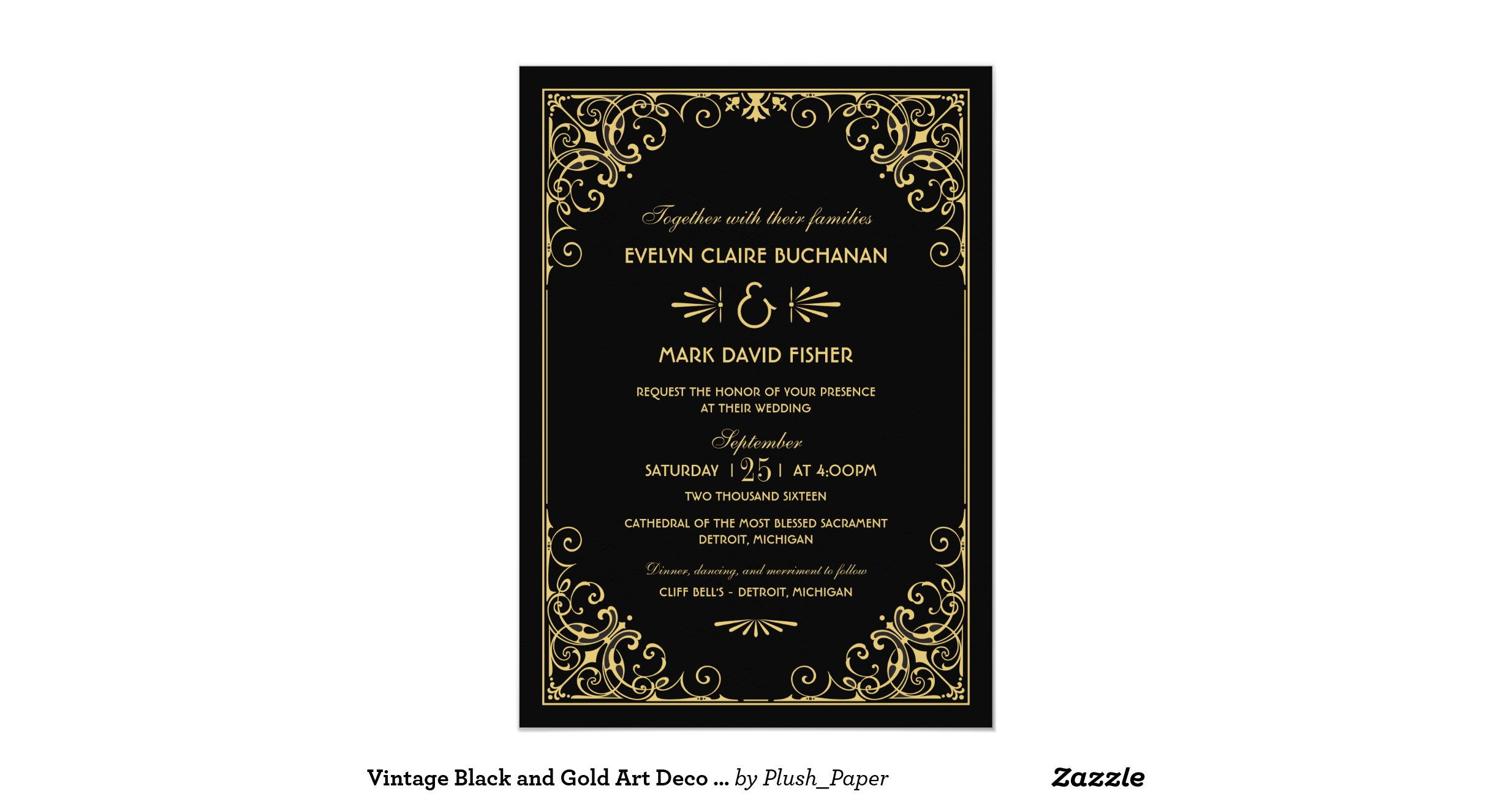 deco inspired wedding invitation wedding - 28 images - 1920s wedding ...
