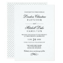 Wedding Invitations   Black Classic Elegance