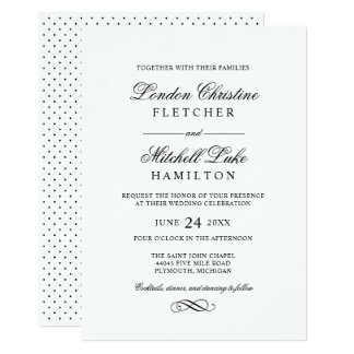 Classic Wedding Invitations Announcements
