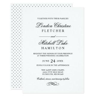 Wedding Invitations | Black Classic Elegance