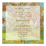 """Wedding invitations from bride and groom's parents 5.25"""" square invitation card"""