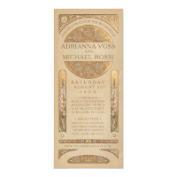 Wedding Invitations | Gold Nouveau Deco