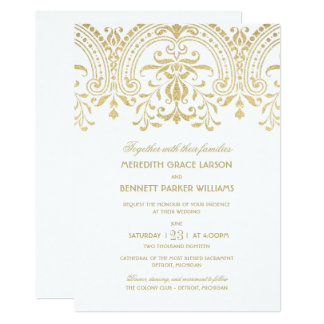 wedding invitations gold vintage glamour - Wedding Invitations Vintage