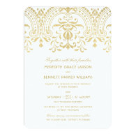 Wedding Invitations   Gold Vintage Glamour 5