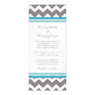 Wedding Invitations Grey Blue Chevron