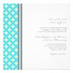 Wedding Invitations Grey Teal Mint Pattern