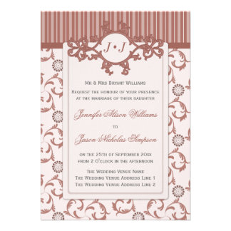 Wedding Invitations in Spice with Ornate Pattern