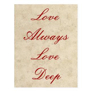Wedding Invitations - Love Always Love Deep